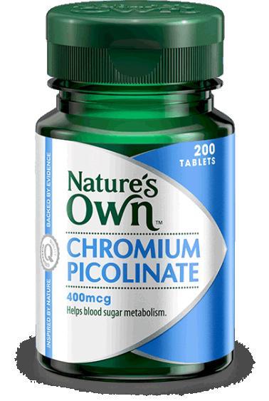 Image of Nature's Own Chromium Picolinate 400mcg 200tabs