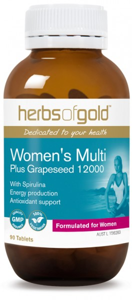 Image of Herbs of Gold Women's Multi 60tabs with grapeseed 12000mg- SAVE $19.50