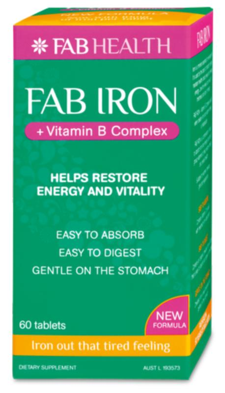 Image of Fab Iron 30 or 60tabs w B Complex