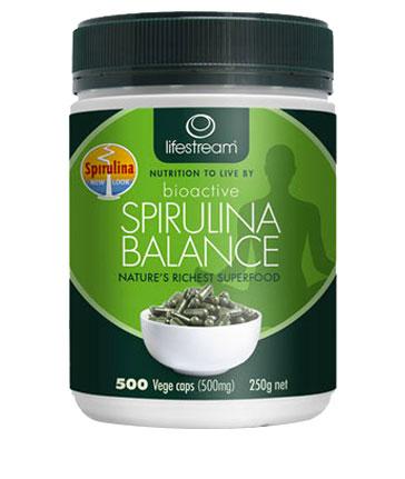 Image of Lifestream Bioactiv Spirulina 500mg 500 vegetable capsules