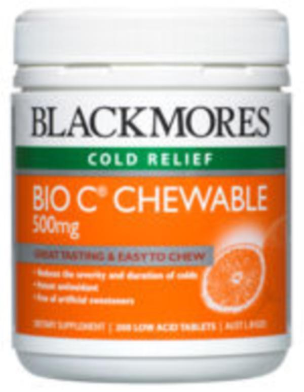 Image of Blackmores Bio C Chewable 500mg 200tabs- SAVE $11 Economy Pack