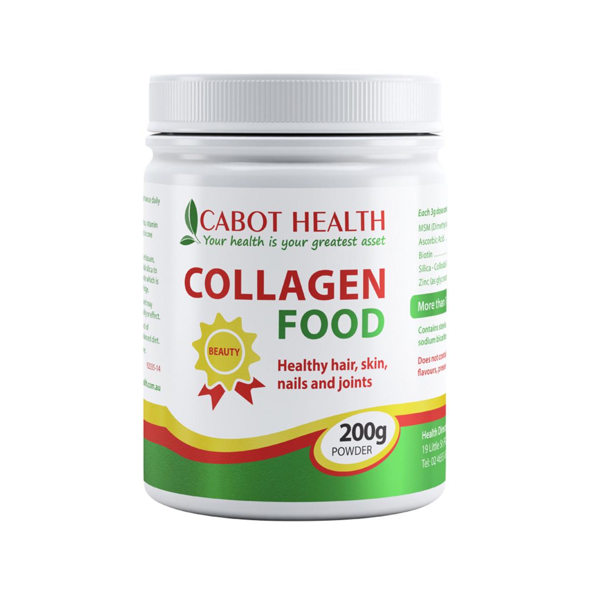 Image of Cabot Healh Collagen Food 200g (MSM Powder) Natural Lemon Flavour