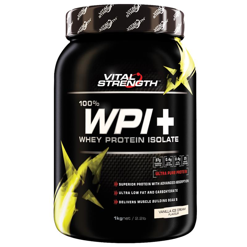 Image of Vital Strength WPI 100% Whey Protein Isolate 1kg- SAVE $30