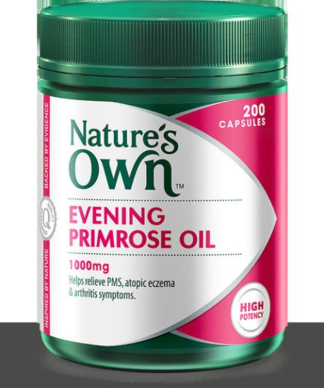 Image of Nature's Own Evening Primrose Oil 1000mg 200caps-SAVE $9