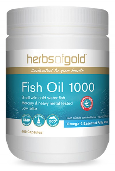 Image of Herbs of Gold Fish Oil 1000mg 400caps - SAVE $20