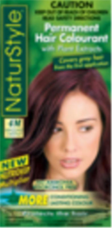 Image of NaturStyle 4m Mahogany Chestnut 155ml Permanent hair color