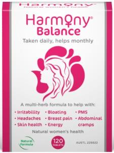 Image of Harmony Balance 60/ 120 Tablets -PMS Relief, Menstrual Cramps