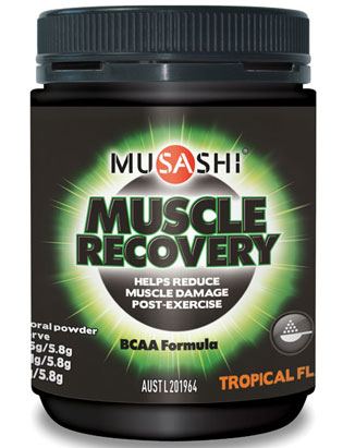 Image of Musashi Muscle Recovery Nourish (BCAA) 250g Tropical