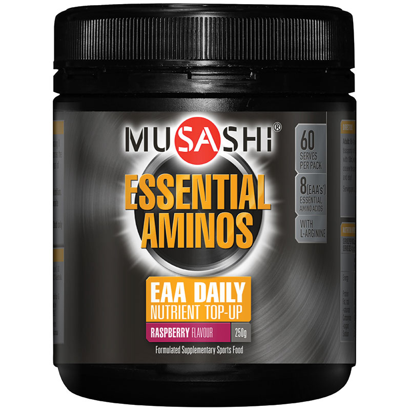 Image of Musashi Essential Amino Acid (Create) 250g Raspberry flavour (Muscle G