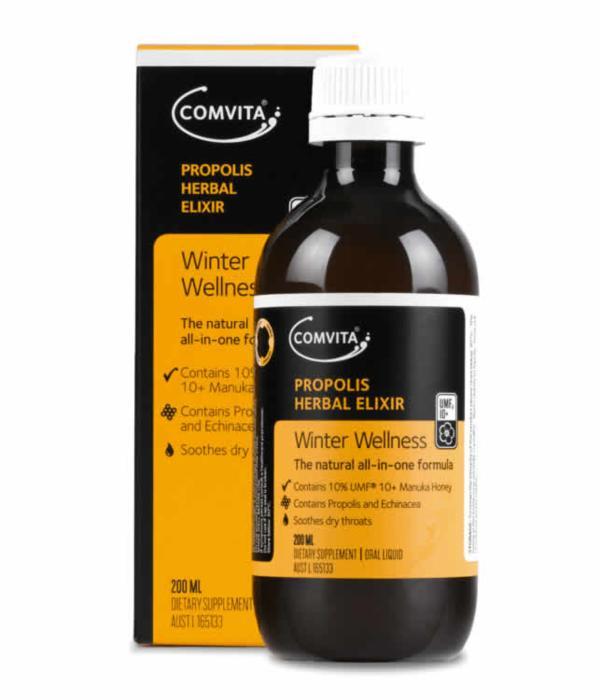 Image of Comvita Propolis herbal cough Elixir 200ml