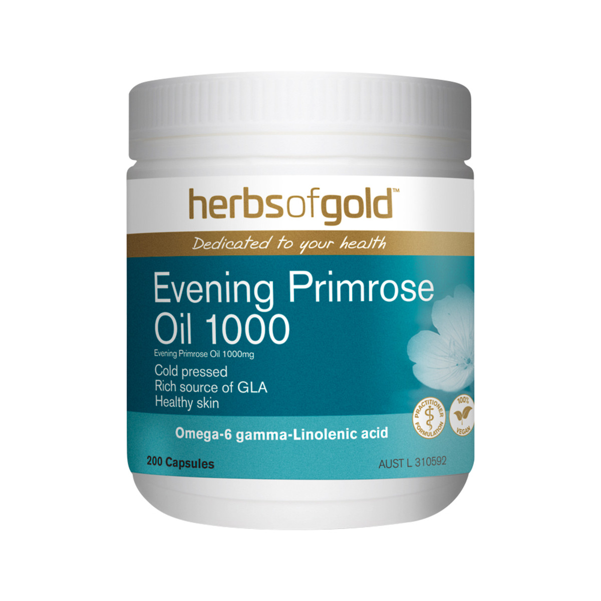 Image of Herbs of Gold Evening Primrose Oil 1000mg 200caps- only $14.95