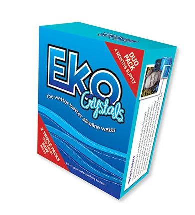 Image of Eko Water Crystals Sachets- 1 Month Supply- Make your body alkaline