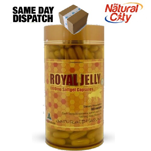 Biosis Natural Pharma Royal Jelly 1000mg 365 Softgel caps - Only $29.95, two for $54