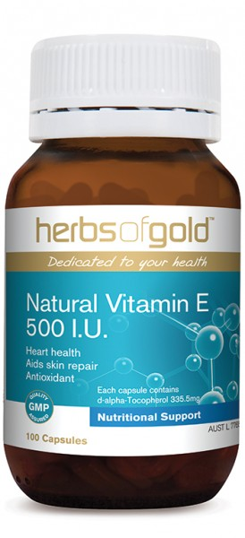 Image of Herbs of Gold Vitamin E 500iu 200caps-SUPER LOW PRICE Only $39.95 SAVE
