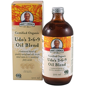 Image of Udo's 3-6-9 Oil Blend Cerfified Organic 500ml