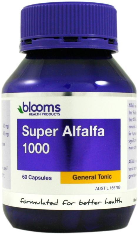 Image of Blooms Super Alfalfa 1000mg 60caps
