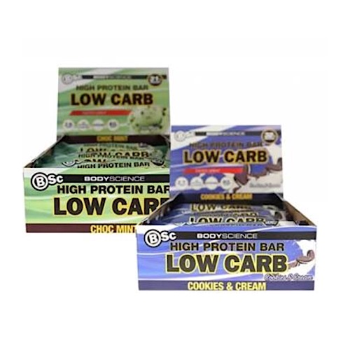 Image of Body Science High Protein Low Carb Bar 60g x 8