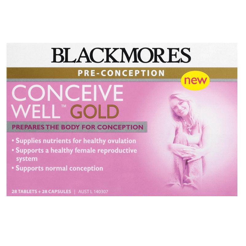 Blackmores Conceive Well Gold 56tabs for pre conception (28tablets + 28 capsules) - 40%OFF