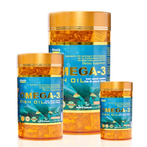 BIOSIS FISH OIL OMEGA 3 1000MG 200caps - Priced to Clear - Shelf Expiry of Sep 2017