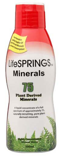 Image of Lifesprings Colloidal Minerals 75 Plant Derived 500ml