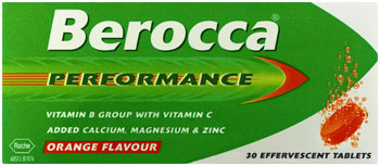 Berocca Performance Effervescent 30tabs Orange