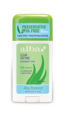 Alba Organic Deodorant Aloe Unscented 55g