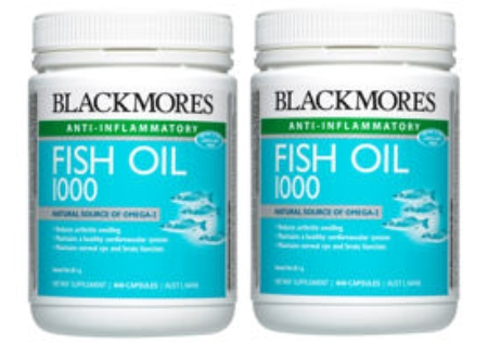 Blackmores Fish Oil 1000mg 200caps x 2 SAVE $30