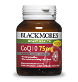 Blackmores CoQ10 75mg 30caps- New Strength