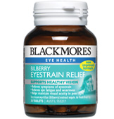 Image of Blackmores Bilberry Eyestrain Relief 30tabs- New potent strength