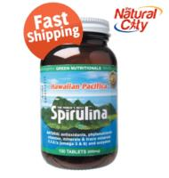 Green Nutritional Hawaiian Pacifica, Spirulina 100 Tablets
