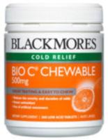 Blackmores Bio C Chewable 500mg 200tabs- SAVE $11 Economy Pack