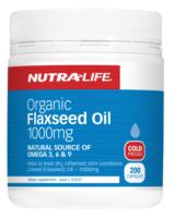 Nutra Life Organic Flaxseed Oil 1000 200caps