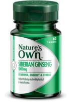 Natures Own Siberian Ginseng 1000mg 60caps