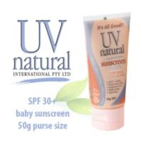 UV Natural Baby Sunscreen SPF30+ 50g (2 hours water resistant - unscented)