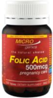 Microgenics Folic Acid 500mcg Pregnancy Care 120tabs