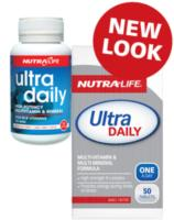Nutra Life Ultra Daily 100tab- New Potent Multi- One a Day