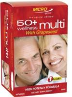 Microgenics 50 + Wellness Multivitamin W Grapeseed 60tabs