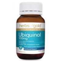Ubiquinol 100mg 30caps by Herbs of Gold