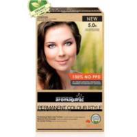 Aromaganic 5.0N Light Brown (Natural) Hair Colour - 100% NO PPD