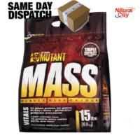 MUTANT MASS 15LB (6.8kg)  EXTREME WEIGHT GAINER SERIOUS BULK UP GAIN