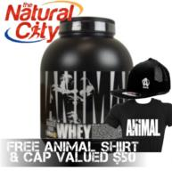 Universal Nutrition Animal Whey 4lbs WPI/WPC - FREE ANIMAL SHIRT & BASEBALL CAP