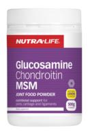 Nutra Life Glucosamine Chondroitin with MSM - Lemon 500g