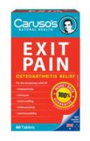 Carusos Exit pain- Rapid arthritis relief w chondroitin &msm 60tabs