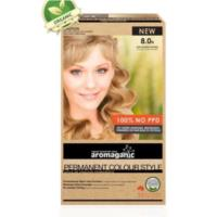 Aromaganic 8.0N Light Blonde (Natural) Hair Colour - 100% NO PPD